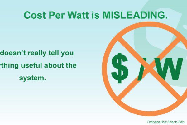 Cost Per Watt (CPW)