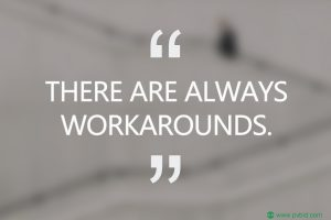 There are always workarounds. PVBid